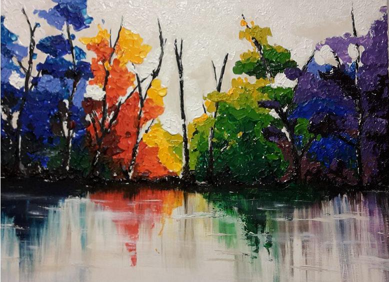 Top Workshop schilderen met paletmes en acrylverf. Compleet verzorgd CZ52