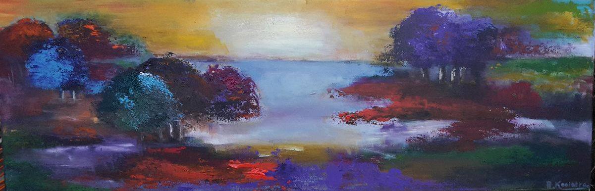 Voorkeur Workshop schilderen met paletmes en acrylverf. Compleet verzorgd EY17