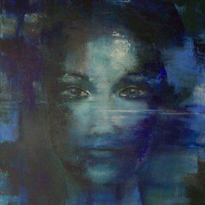 schilderij geabstraheerd portret